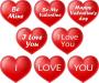 Raamstickers 'I love You' - Valentijsdag - statisch hechtend - 21x25 cm - set van 8 stuks