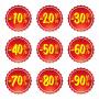 Korting 10%-90% 1