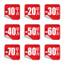 Korting 10%-90% 2