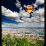 Luchtballon stad