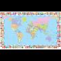 Wereldkaart + vlaggen